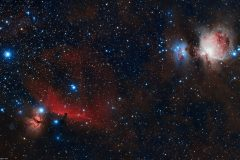 The Horsehead and Orion Nebulae (wide-fiield)